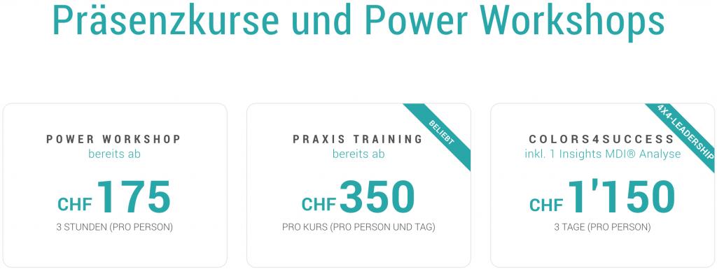 Präsenzkurse und Power Workshops